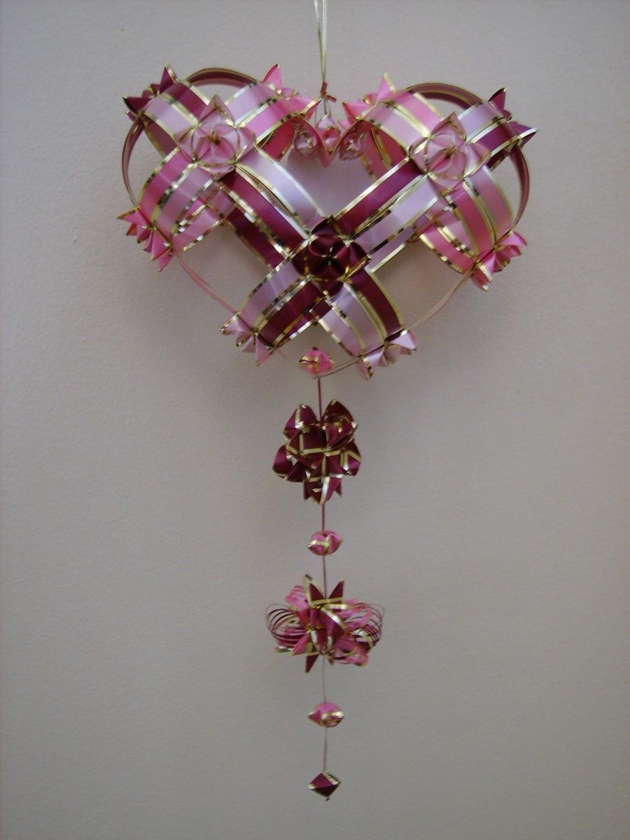 ribbon origami heart by eiirlys on deviantart