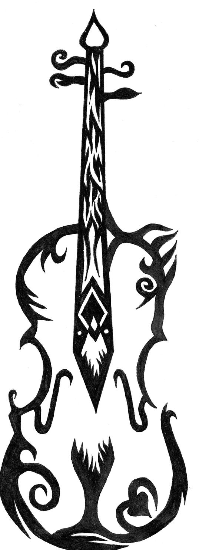 tattoo violin by psybuffalosoldier on deviantart. Black Bedroom Furniture Sets. Home Design Ideas