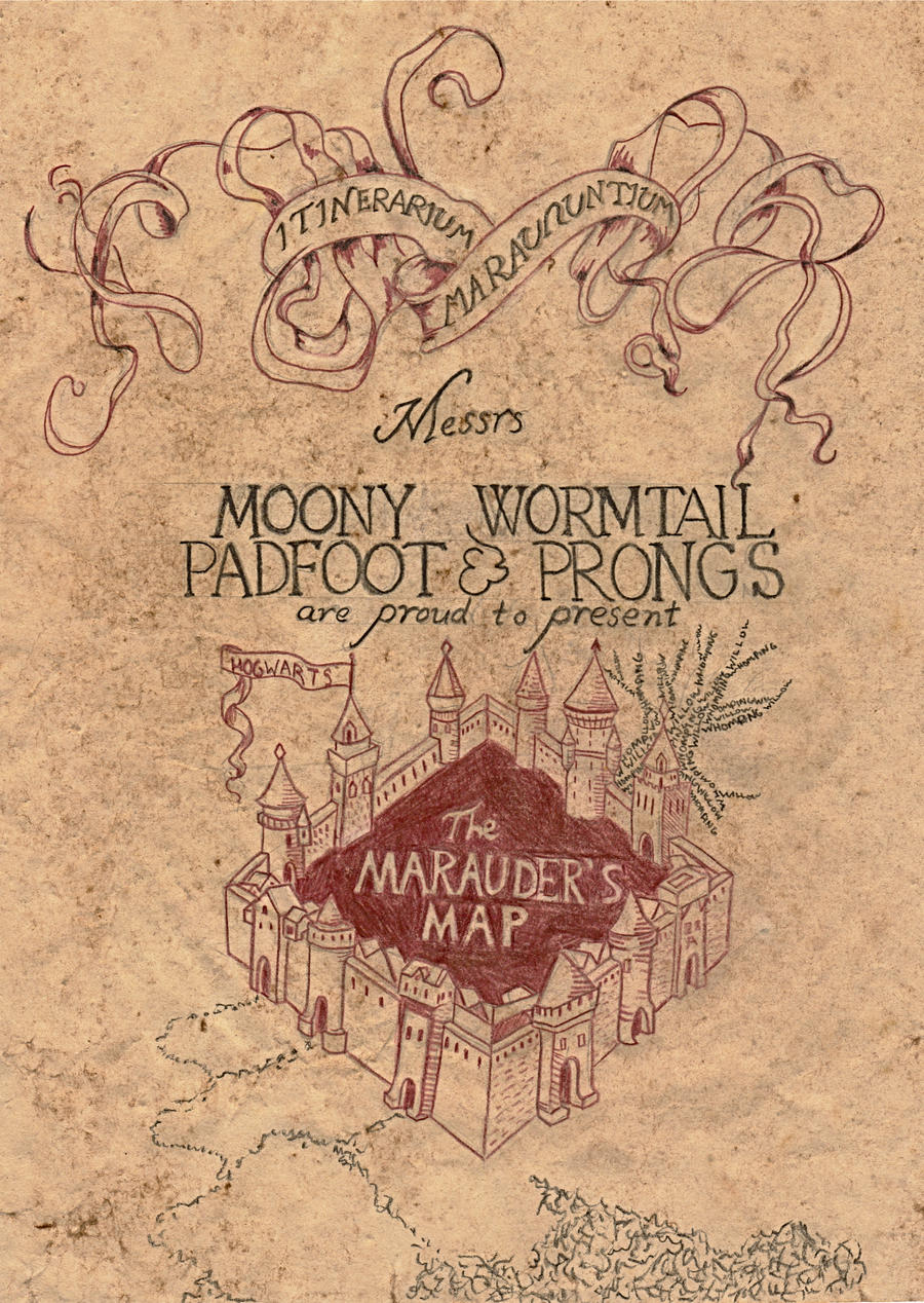 Marauder's Map by zenturtle651692 on DeviantArt