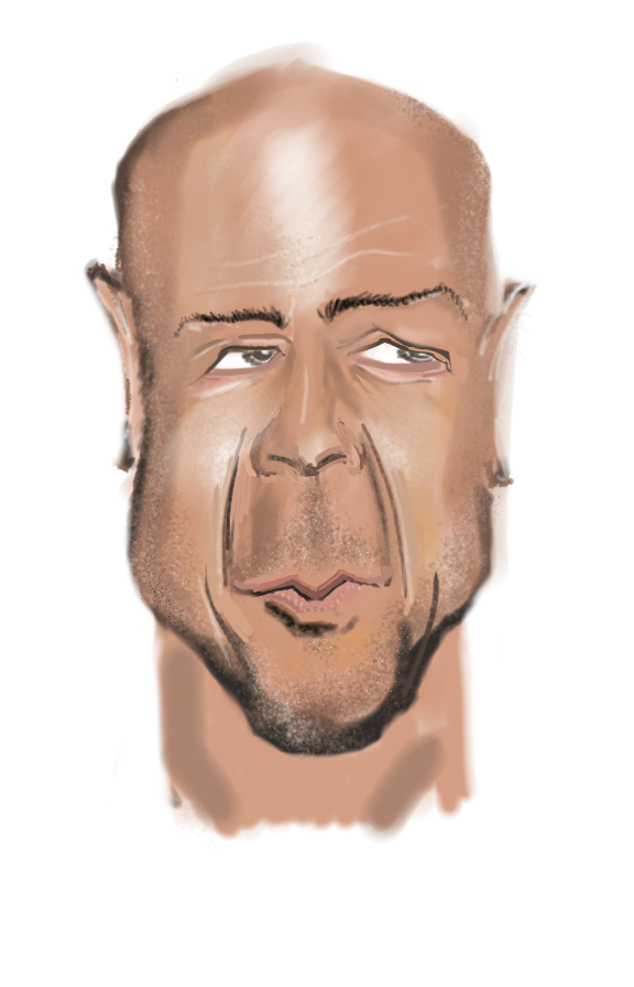 Bruce willis caricature (my first one...)
