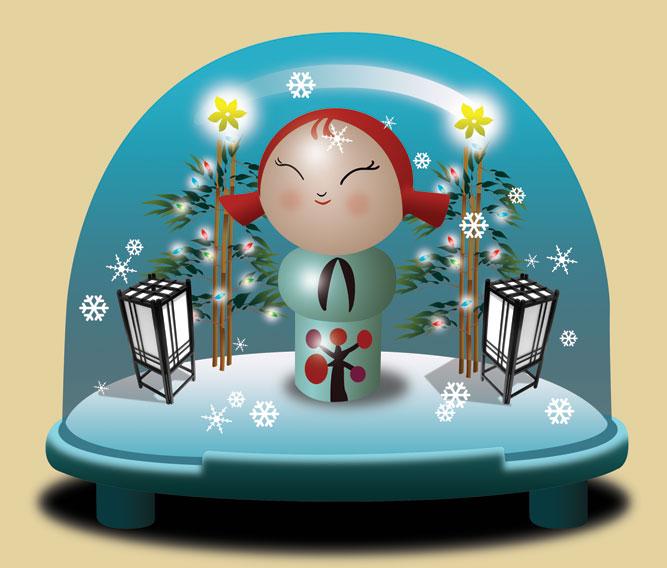Momiji in a Snowglobe by Designokee