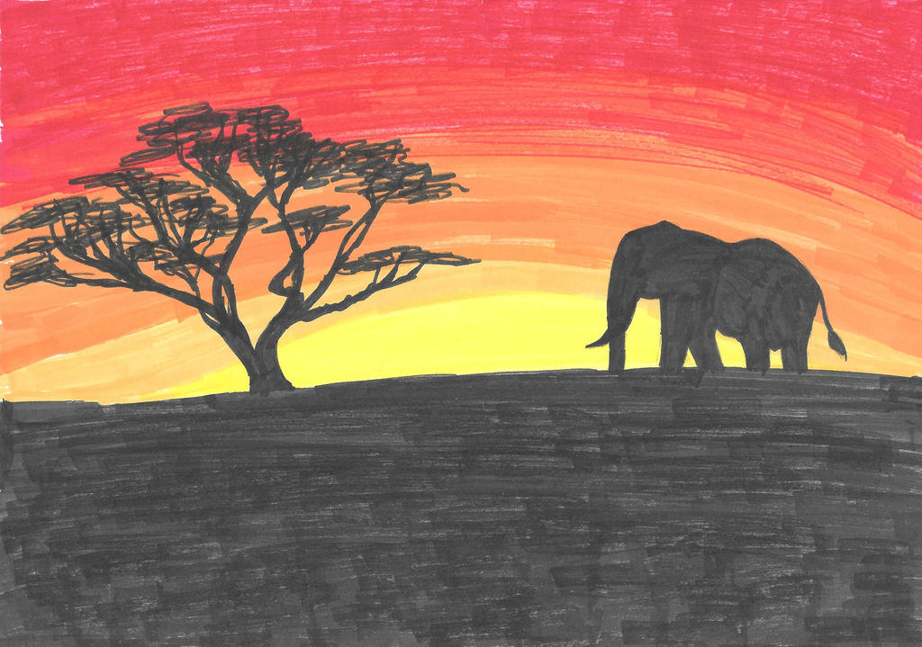 African sunrise by xemnas-saix-love