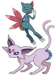 Second Pokemon generation's cat butts