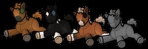 P2U Plushie Horse/ Foal Base by ShayEveryDay