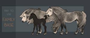 P2U Horse Family Base
