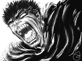 Gatsu Scream Berserk by Paky88