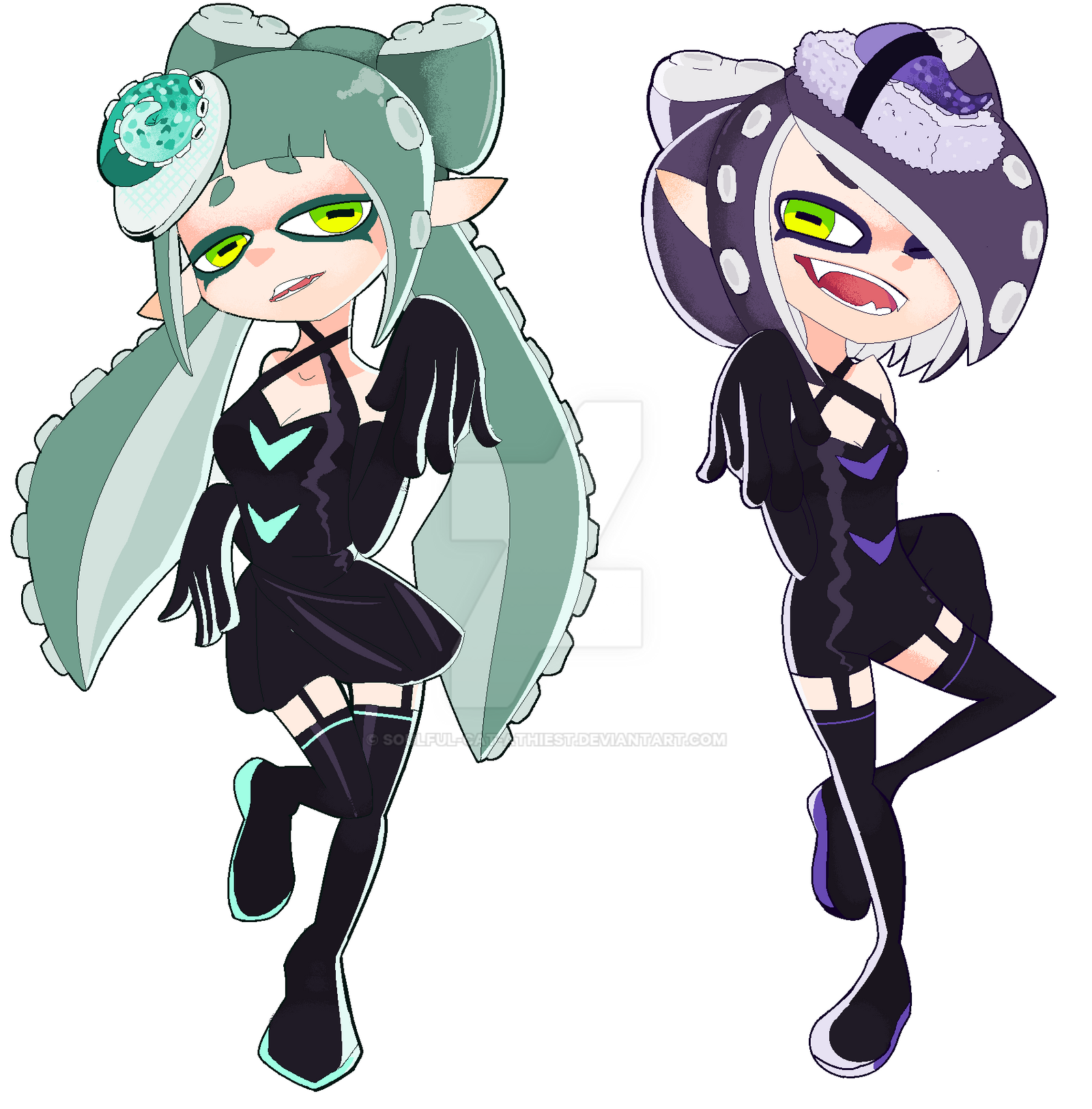 Octoling Sisters By Soulful Cat Athiest On Deviantart