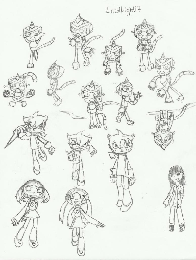Monkeys, Chiro, Jinmay... sketches by LostLight17