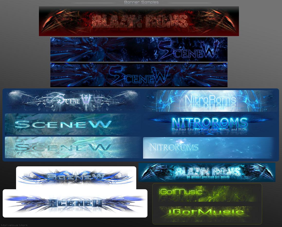 Forum, Website Banner Samples by MarvelousMark on DeviantArt