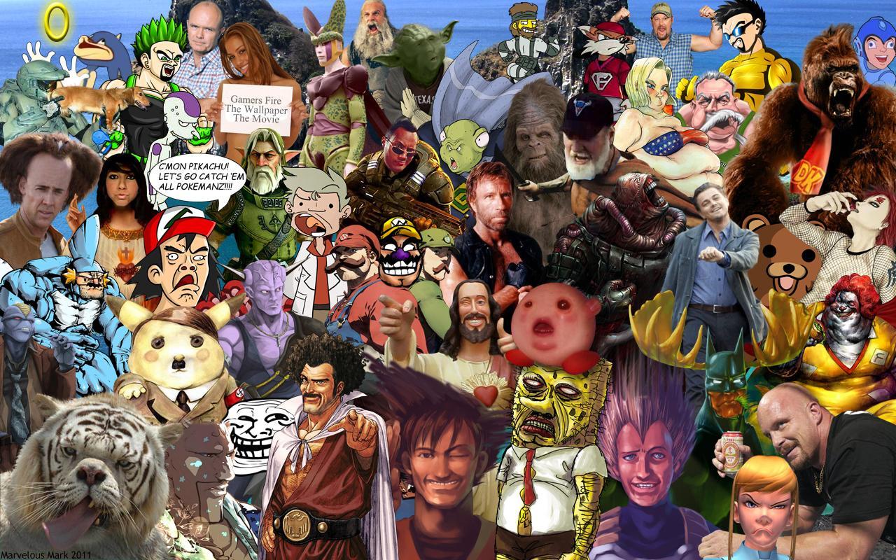 character collage wallpaper by marvelousmark on deviantart