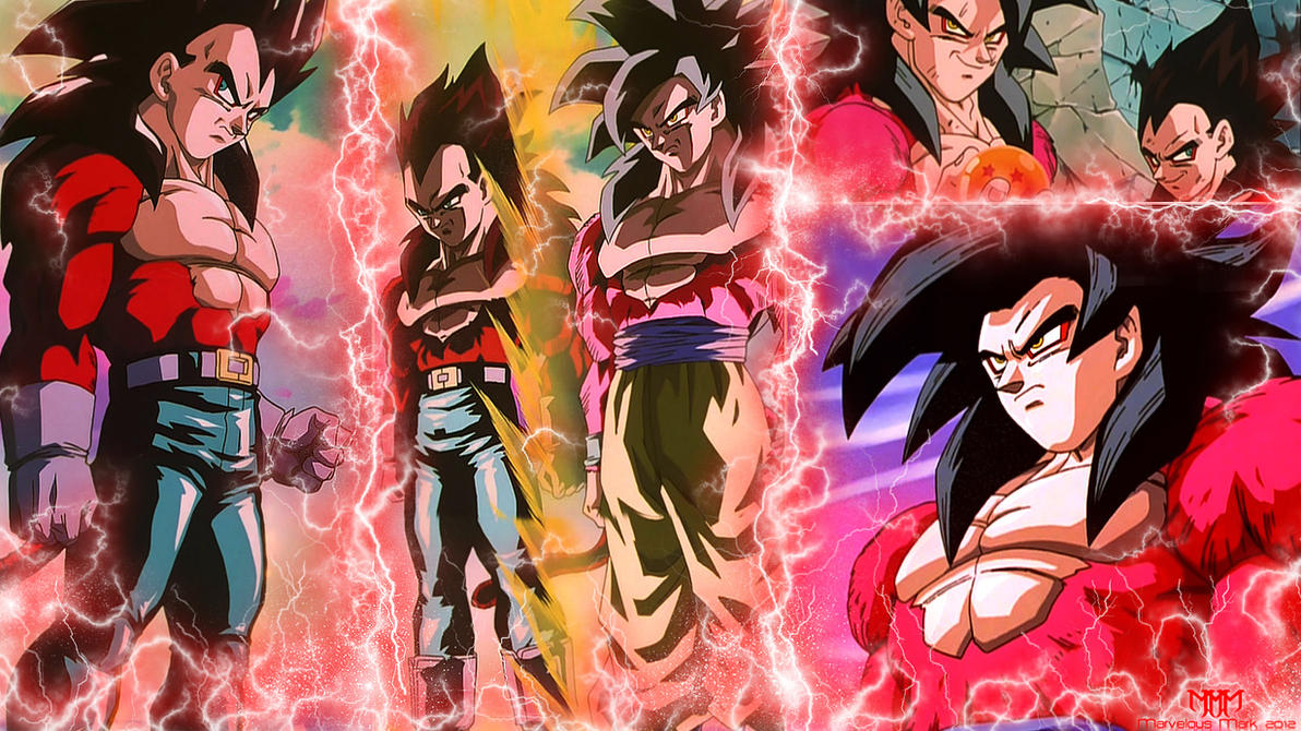 SS4 Vegeta And Goku Wallpaper By MarvelousMark
