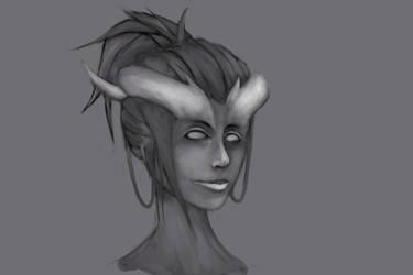 Portrait practice by KindredCrusader