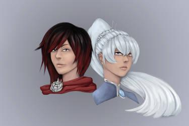 RWBY: White roses by KindredCrusader