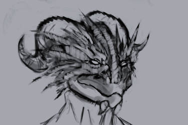 Nilne the dragonborn by KindredCrusader