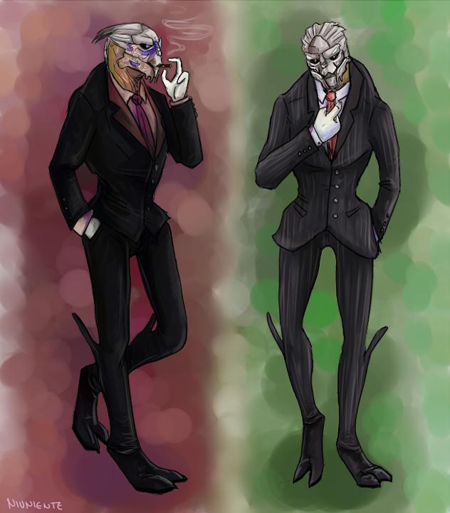 Fine turian gentlemen Garrus and Gavorn by Niuniente