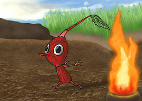 The Red Pikmin by kittydemonchild