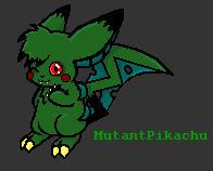 MutantPikachu by kittydemonchild