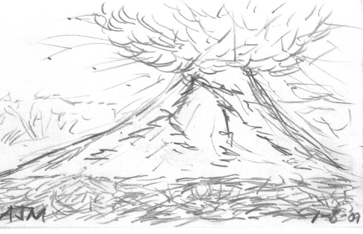 Line Drawing Volcano : Volcano sketch by starbond on deviantart