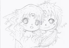 Sailor moon-Seiya and Usagi-You are mine-Remake by NelNel-Chan