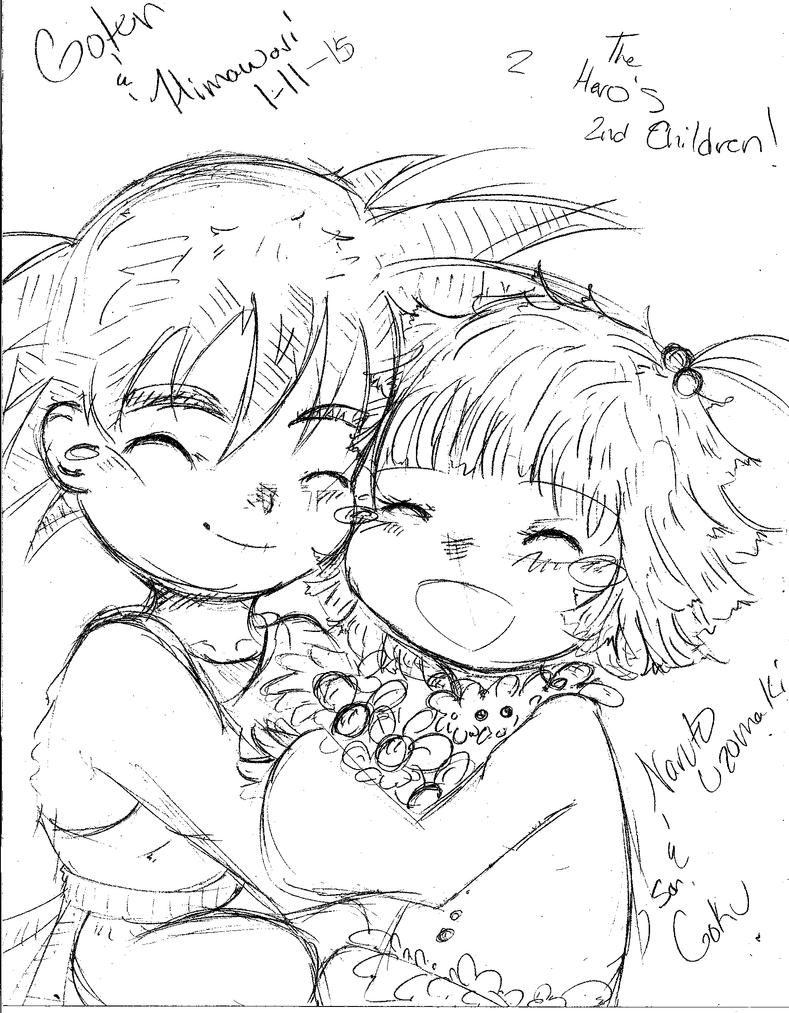 NaruHina and GokuChi Children-Himawari and Goten by NelNel-Chan