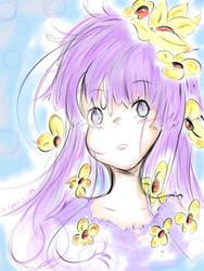 Hinata Hyuuga-Flowers by NelNel-Chan