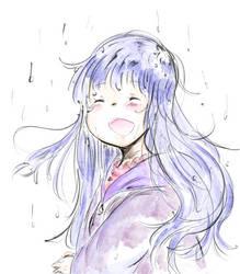 Hinata Hyuuga-Rain by NelNel-Chan