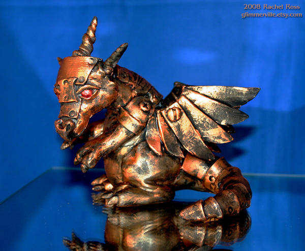 Copper Mech Dragon by NycterisA