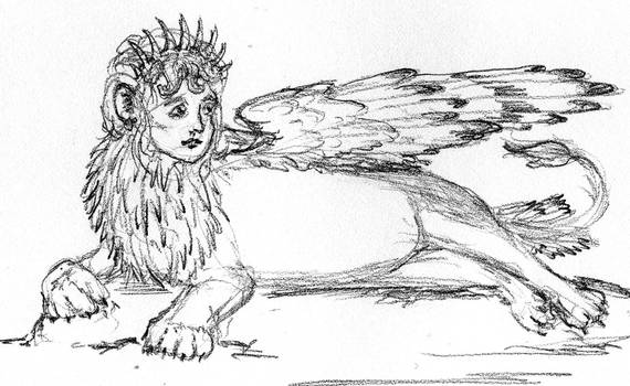 Crowned Sphinx Contemplates