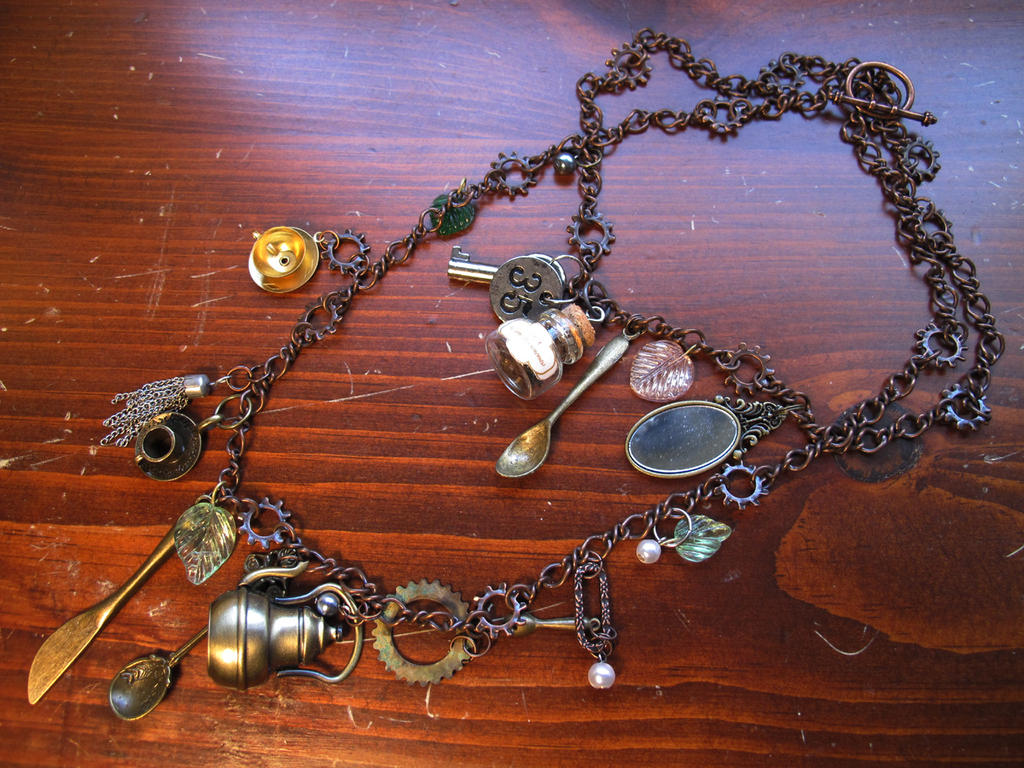 Steampunk Tea Party Necklace by NycterisA