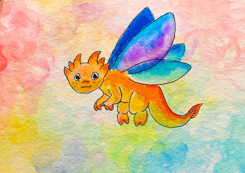 Colorful little dragon!