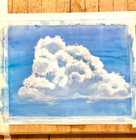 Gouache cloud #1
