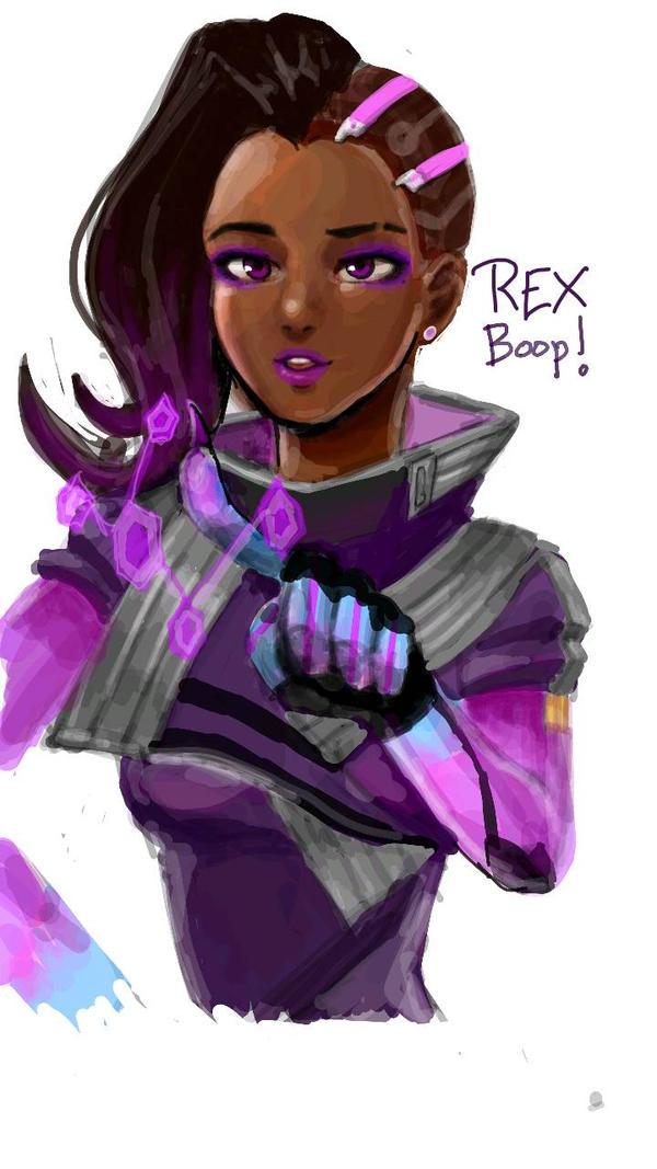 Sombra - Overwatch - Boop! by Rexeren