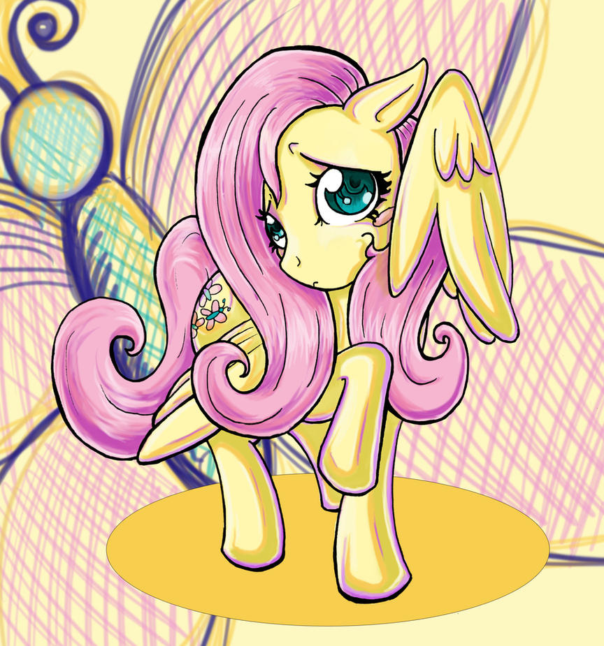 Timid Fluttershy by kcday
