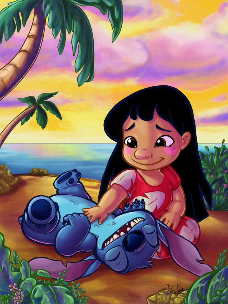 Lilo and Stitch Tummy Rubs by kcday