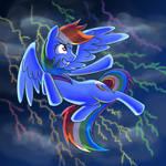 Rainbow Dash in the Lightning