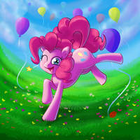 Pinkie Pie In the Valley by kcday