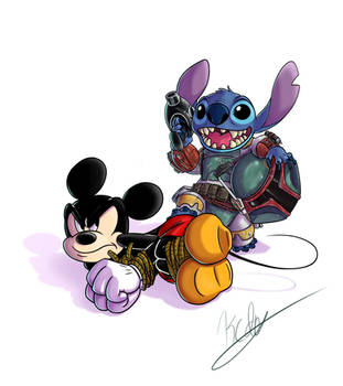 Stitch the Bounty Hunter by kcday