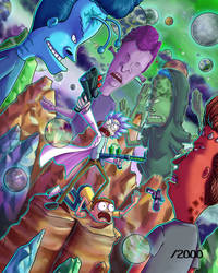 Rick and Morty Vs. Beavis and Butthead