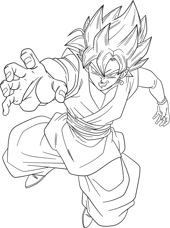 Super Saiyan Rose Goku Black Lineart by SonGoku048 on ...