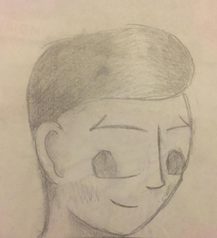 Boy Sketch  by flutterlover918
