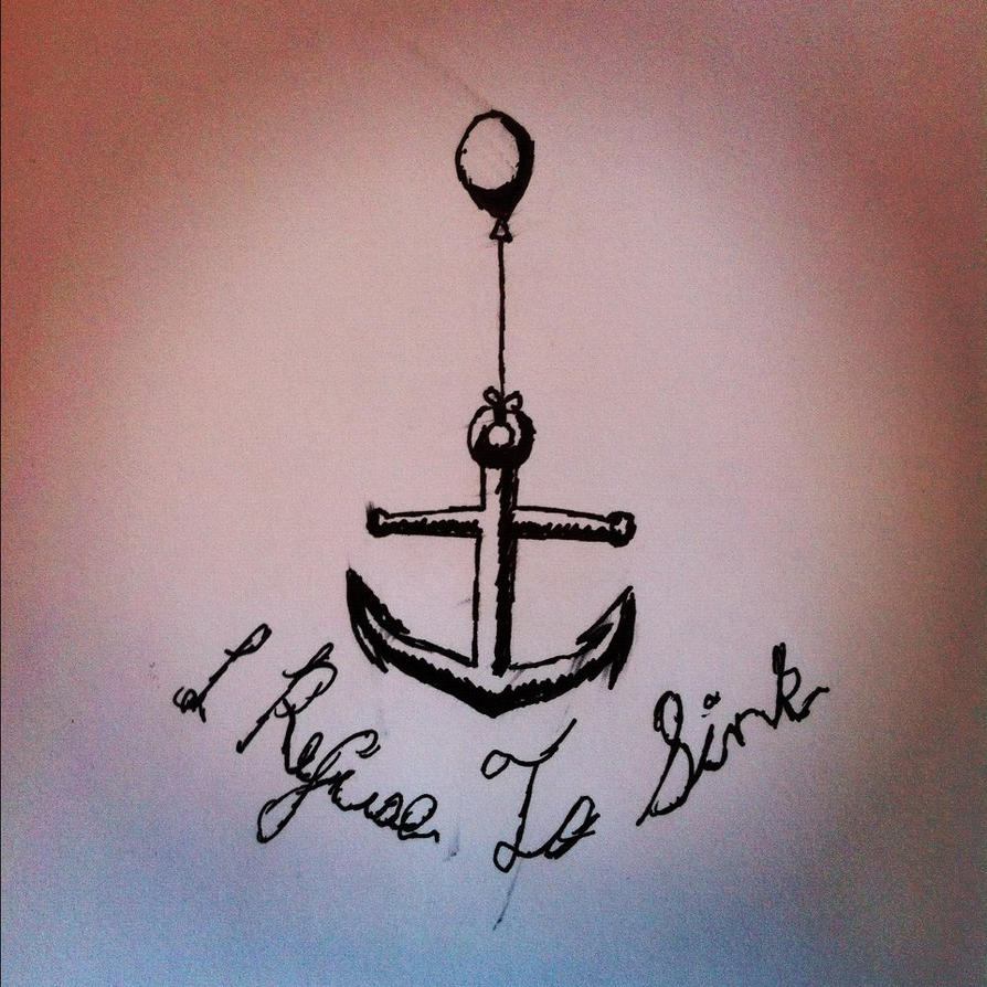 Anchor I Refuse To Sink Wallpaper