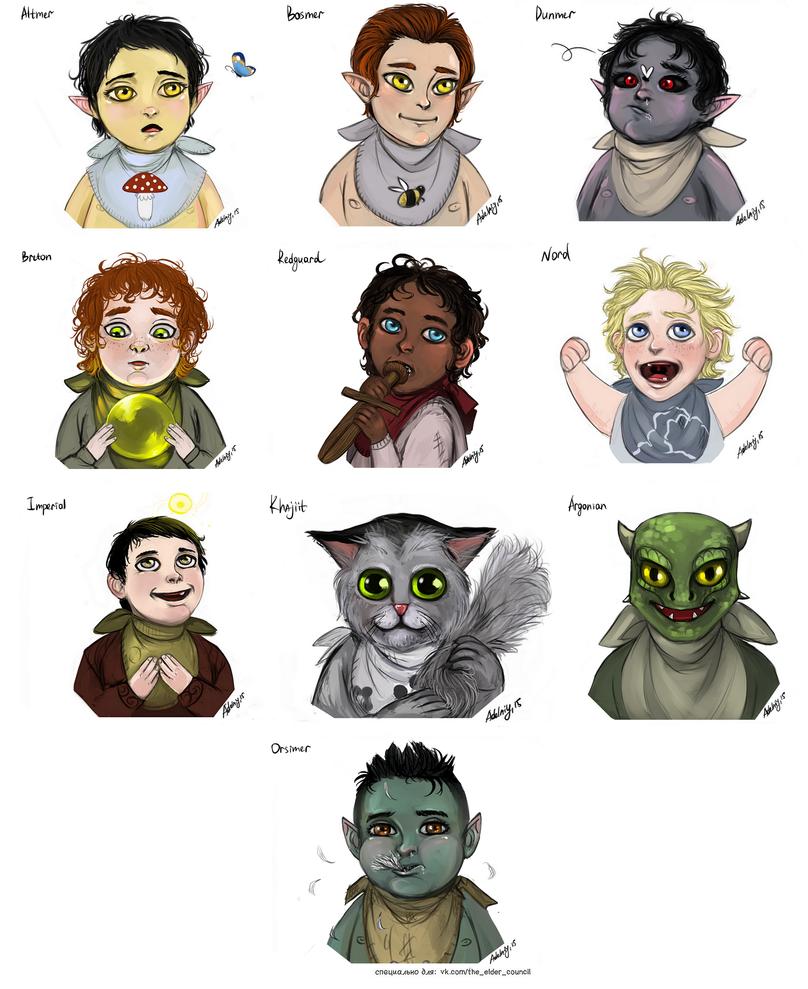 The children of Skyrim by Adelaiy on DeviantArt