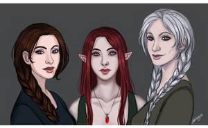 Dragon Age: Hawk, Grey Warden and Inquisitor by Adelaiy