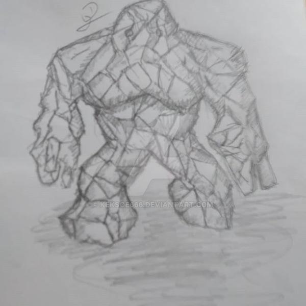 Crystal-golem by Keksoe666