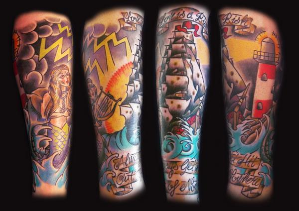 Leg sleeve tattoo - sleeve tattoo