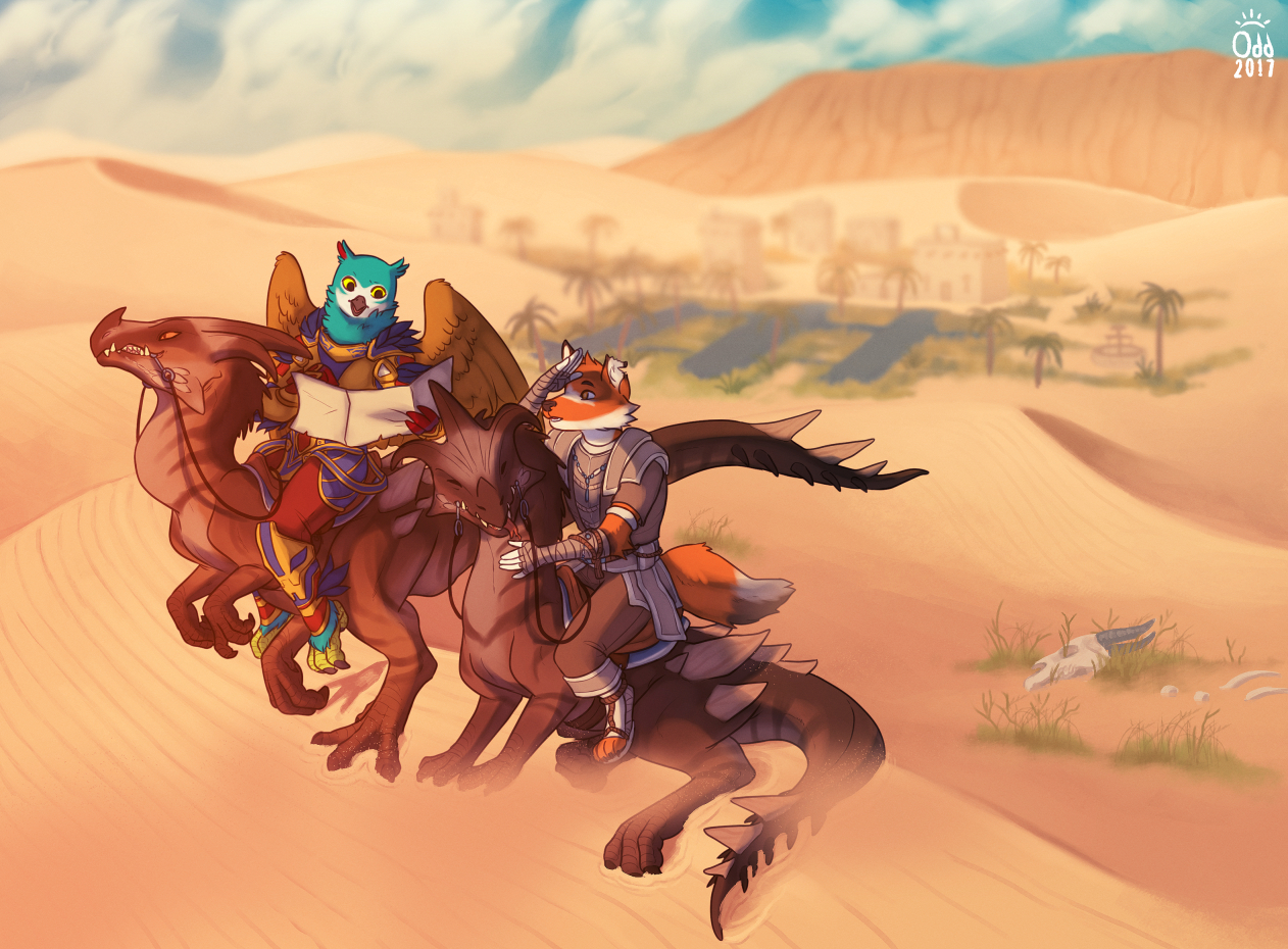 [commission] Dunes as far as the eye can see! by oddthesungod