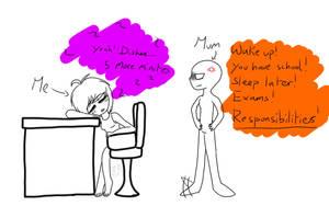My daily struggles #2 (Sleep or Responsibilities)