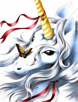 handdrawn unicorn by superpeer