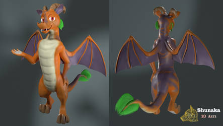 Dragon model for VRChat