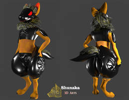 Dark Protogen VRChat avatar- available soon